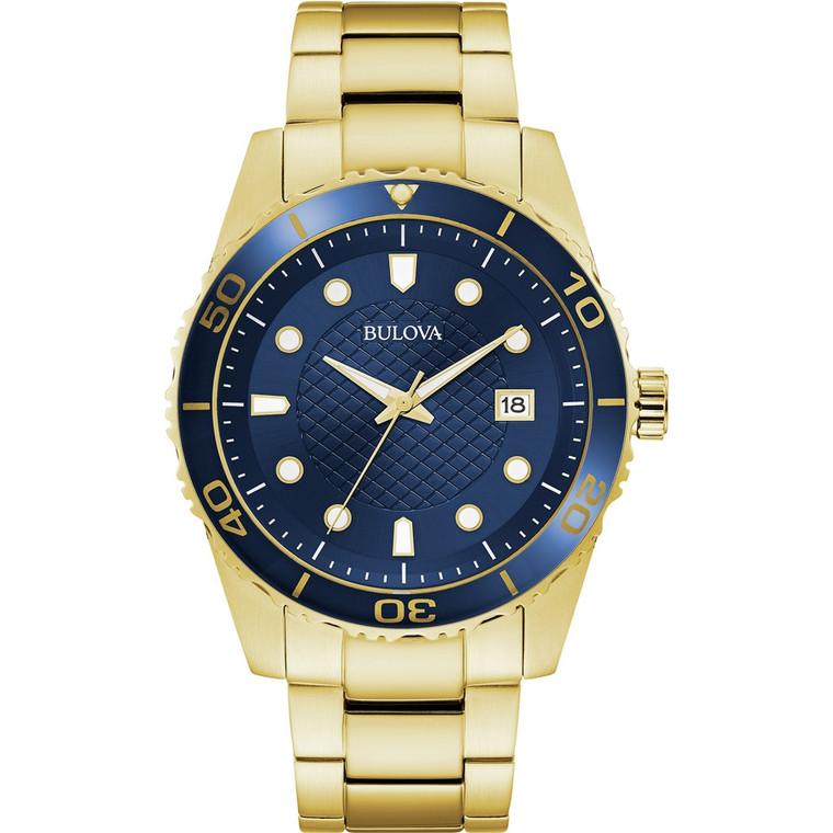 Bulova Men's Sport Watch 98A197 + Free Travel Clock & Picture Frame Clock