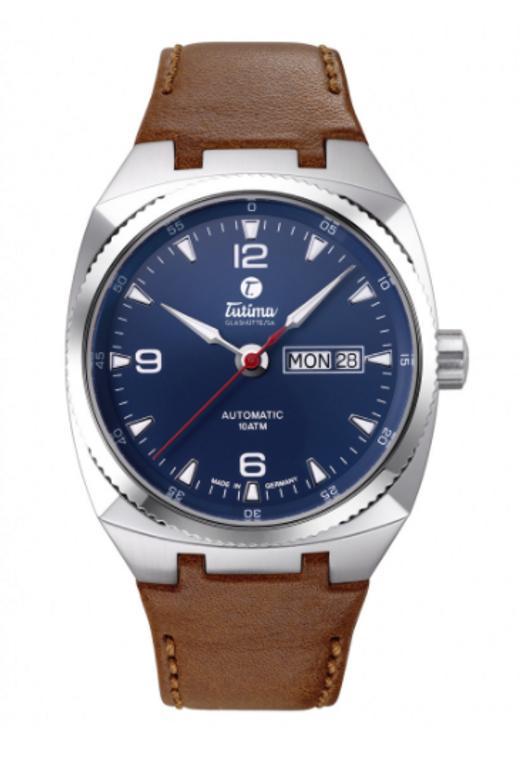 Tutima Saxon One M Steel Blue Automatic ref : 6121-04