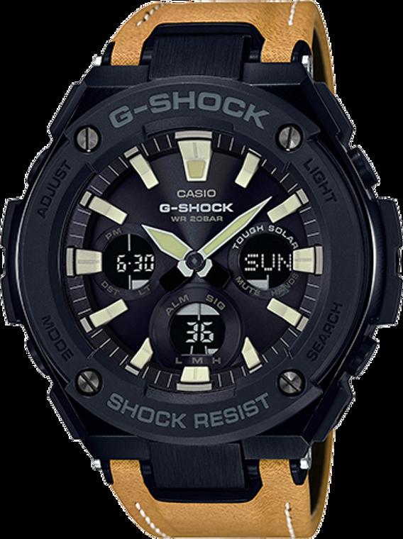 G-Shock G-Steel Black and Mustard GSTS120L-1B