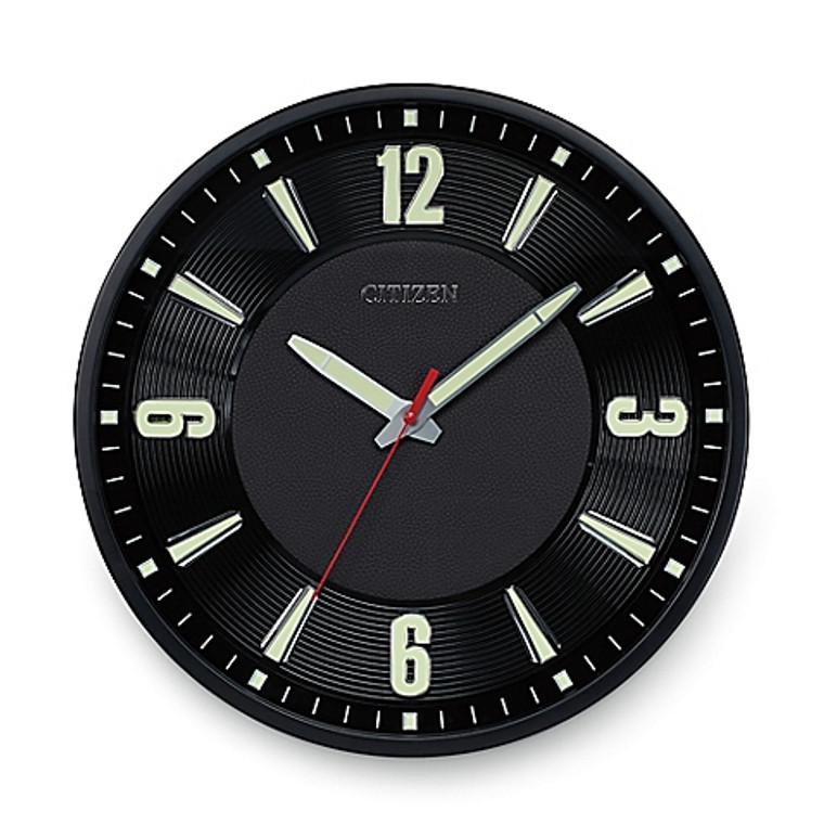 Citizen Gallery Luminescent Wall Clock - Black  CC2012
