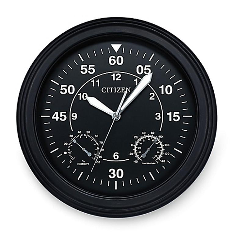 Citizen Outdoor Black Wall Clock CC2016