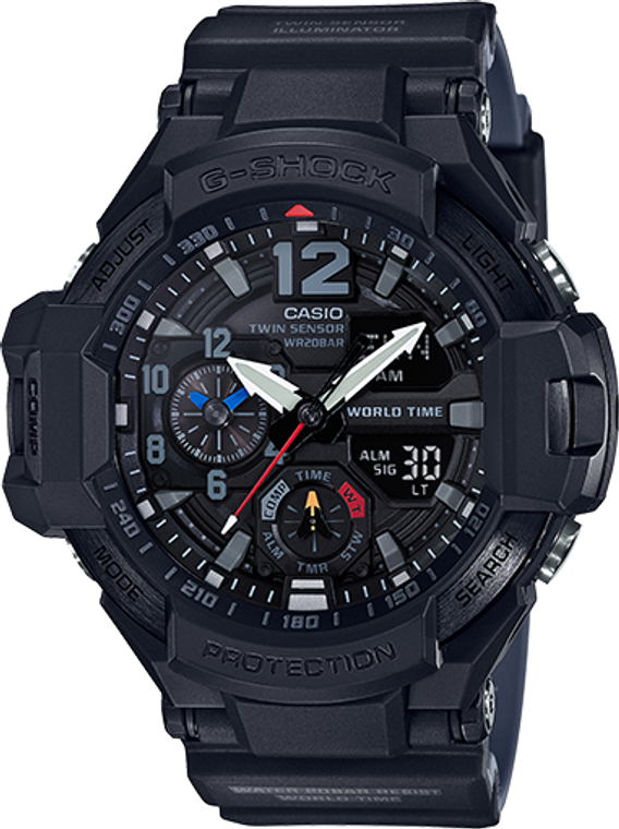 Casio G-Shock Aviation Twin Sensor GA1100-1A1