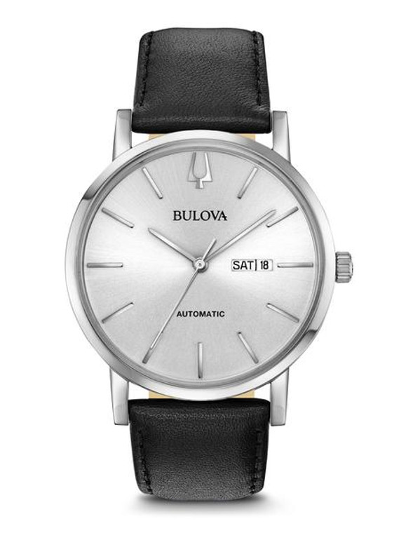 Bulova Men's Classic Automatic  96C130 + Free Travel Clock & Picture Frame Clock