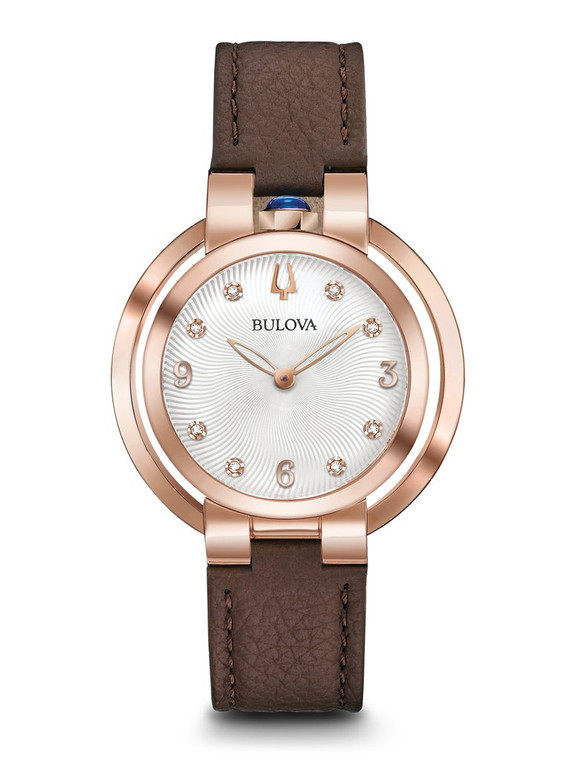 Bulova Rubaiyat Women's Watch 97P131 + Free Travel Clock