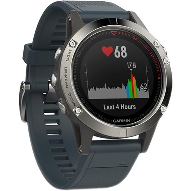 Garmin Fenix 5 GPS Watch Silver Granite
