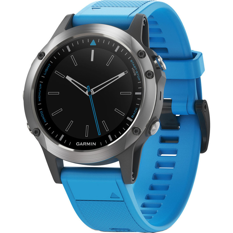 Garmin Quatix 5 GPS Watch Stainless Steel with Blue Band