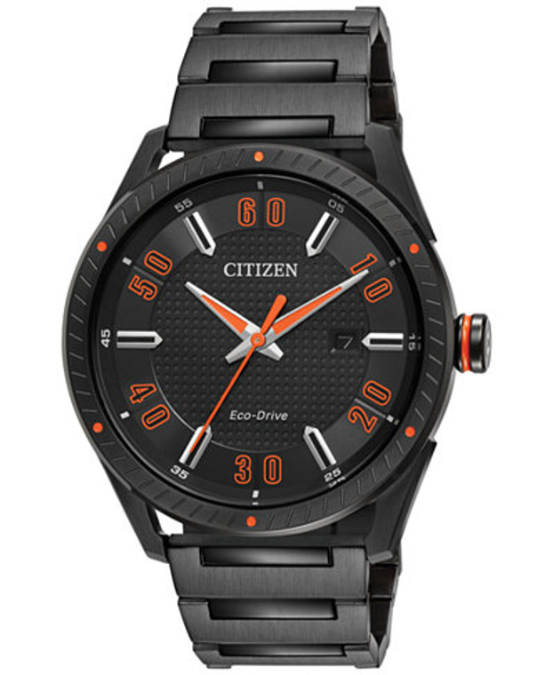 Drive from Citizen Eco-Drive Men's Black Ion-Plated Stainless Steel Bracelet Watch 42mm BM6995-51E