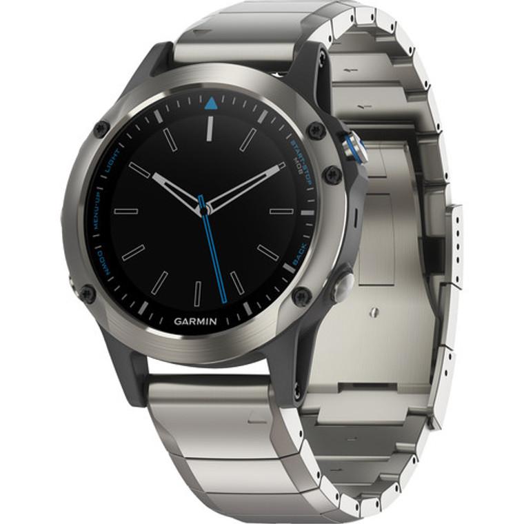 Garmin Quatix 5 GPS Watch Stainless Steel Sapphire with Metal Band