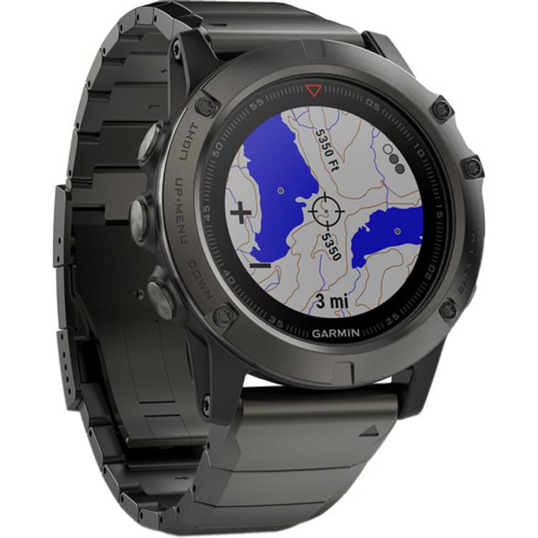 Garmin Fenix 5X GPS Watch Slate Gray Sapphire with Metal Band