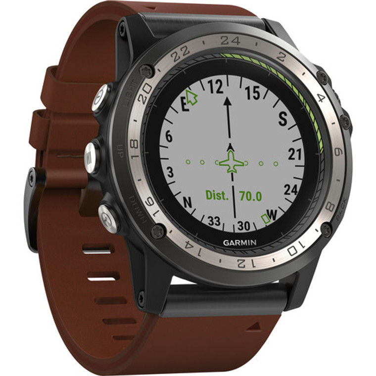 Garmin D2 Charlie GPS Aviator Navigation Watch Titanium Bezel
