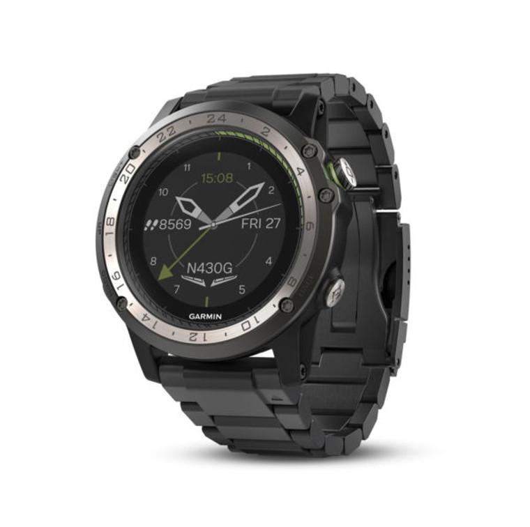 Garmin D2 Charlie GPS Aviator Navigation Watch Titanium Bezel with Titanium Band