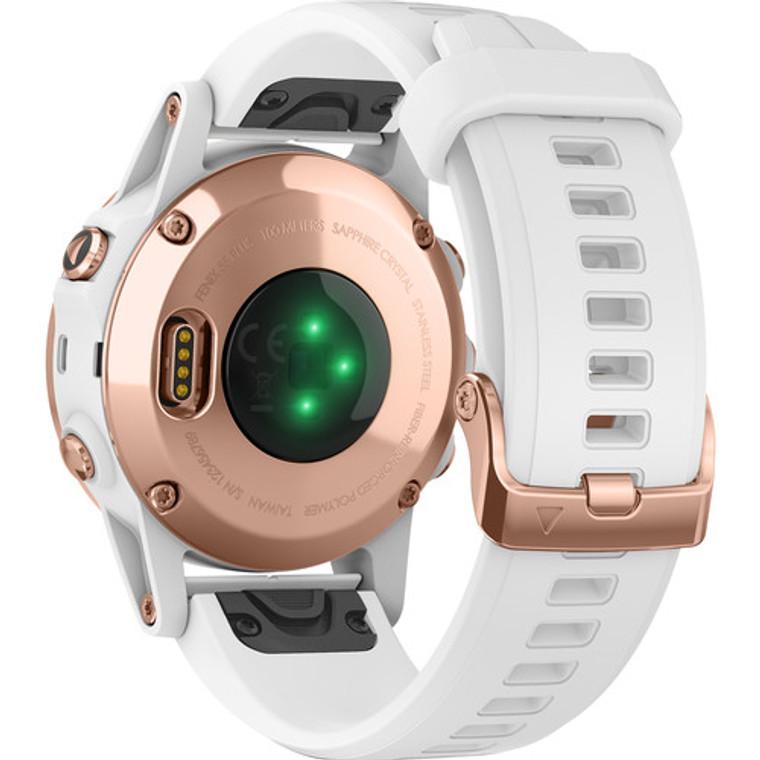 Garmin fenix 5S Plus Sapphire Edition Multi-Sport Training GPS Watch (42mm, Rose Gold-Tone with Carrara White Band)
