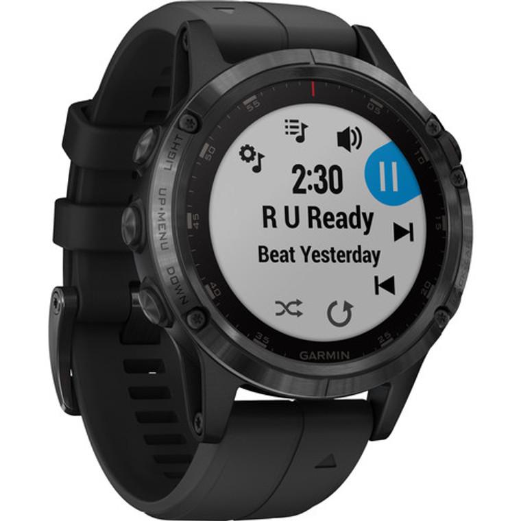 Garmin fenix 5S Plus Sapphire Edition Multi-Sport Training GPS Watch (47mm, Black with Black Band)