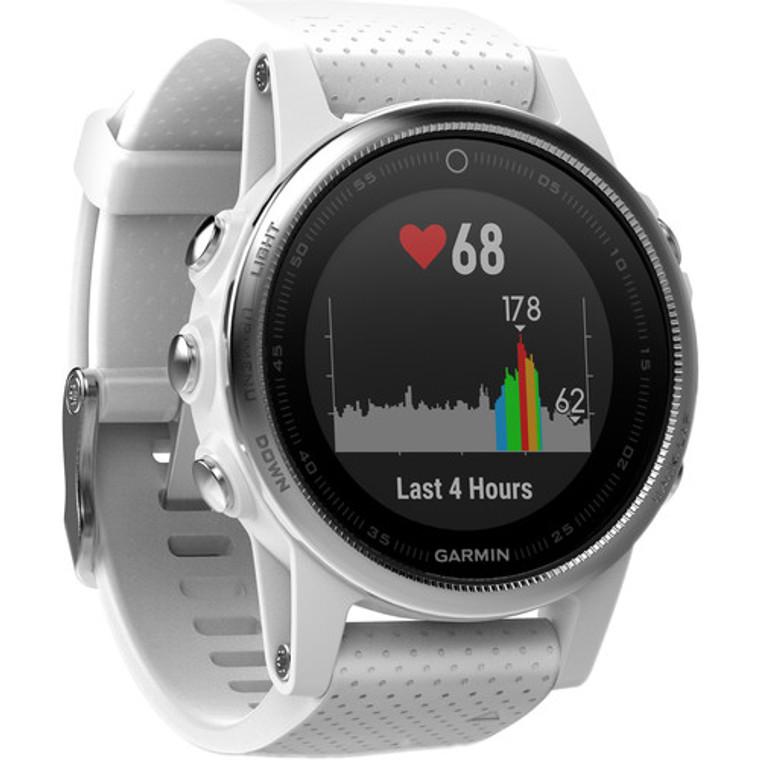 Garmin fenix 5S Multi-Sport Training GPS Watch (White, Carrara White Band)