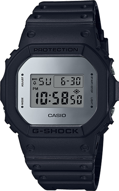 Casio G-Shock Classic Digital Mirror Face  DW-5600BBMA-1