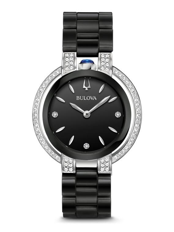 Bulova Rubaiyat Women's Watch 98R266 + Free Travel Clock & Picture Frame Clock
