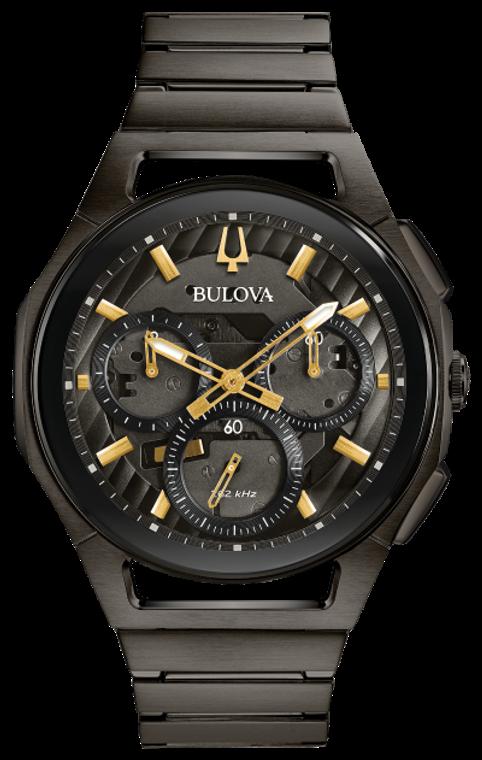 Bulova Men's Curv Chronograph  Ref: 98A206 + Free Travel Clock & Picture Frame Clock