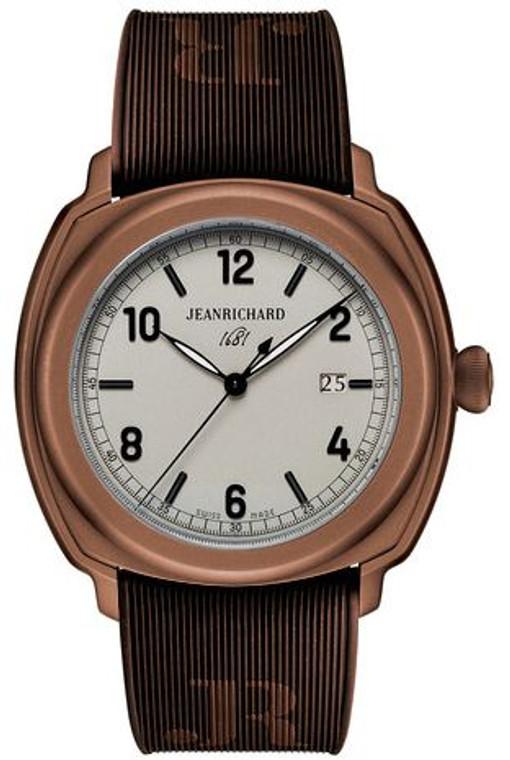 JeanRichard 1681 Central Seconds Brown PVD 60320-11-852-FKBA