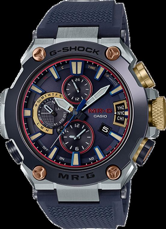*New 2019* Casio G-Shock MR-G GPS Atomic Solar Hybrid Bluetooth MRGG2000RJ-2A Soft Fluoro-Rubber