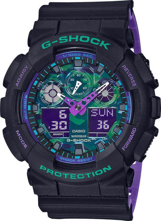Casio G-Shock GA100BL-1A Analog-Digital Shock Resistant Watch
