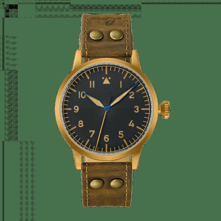 Laco Pilot Watch Original SAARBRUCKEN BRONZE 862085