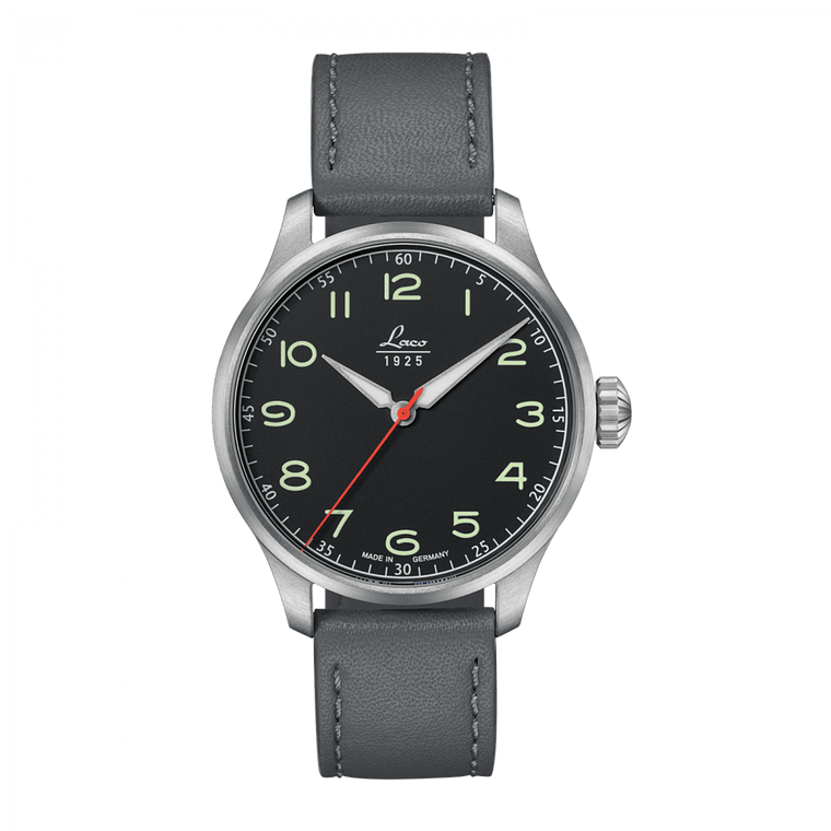 Laco Pilot Watches Special Models BLACK AUTOMATIC 42 861610.2
