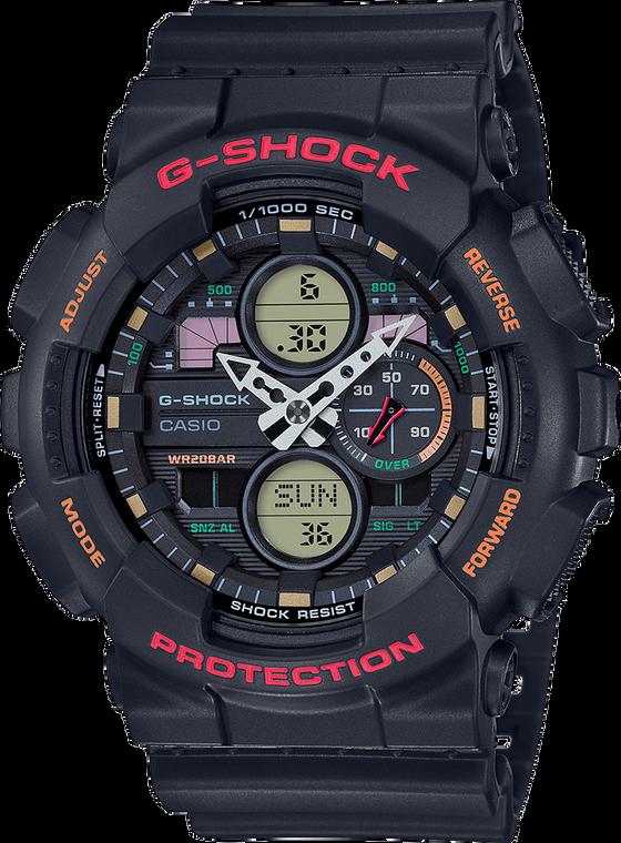 G-Shock GA140-1A4 Ana-Digi 3-Eye 2019 Red/Orange