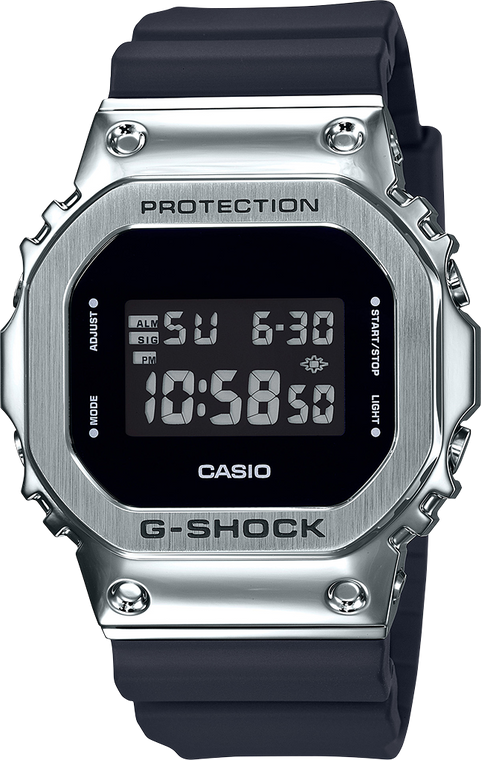G-Shock GM5600-1 Stainless Steel Square Face