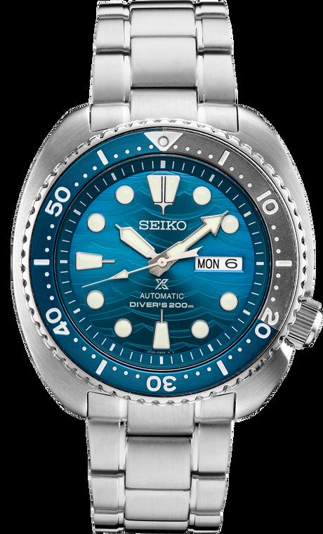 Seiko Prospex SRPD21 Automatic Diver Wave Blue Dial
