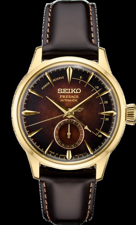 Seiko Presage SSA392 Automatic Gold Finish Burgandy Dial