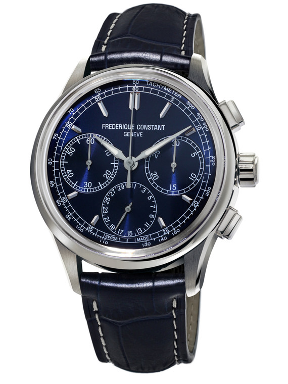Frederique Constant FC-760N4H6 Flyback Chronograph Manufacture Blue Dial