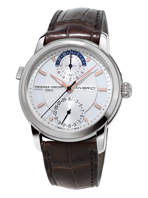 Frederique Constant FC-750V4H6 Classic Hybrid Manufacture Stainless Steel Silver Dial