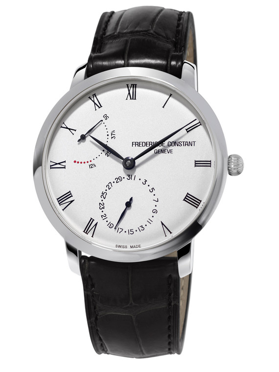 Frederique Constant FC-723WR3S6 Slimline Power Reserve Manufacture Stainless Steel Silver Dial