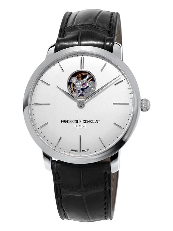 Frederique Constant FC-312S4S6 Slimline Heart Beat Automatic Stainless Steel Silver Dial