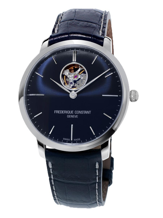 Frederique Constant FC-312N4S6 Slimline Heart Beat Automatic Stainless Steel Blue Dial
