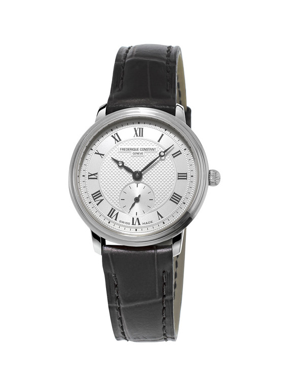 Frederique Constant FC-235M1S6 Slimline Ladies Small Seconds Stainless Steel Silver Dial