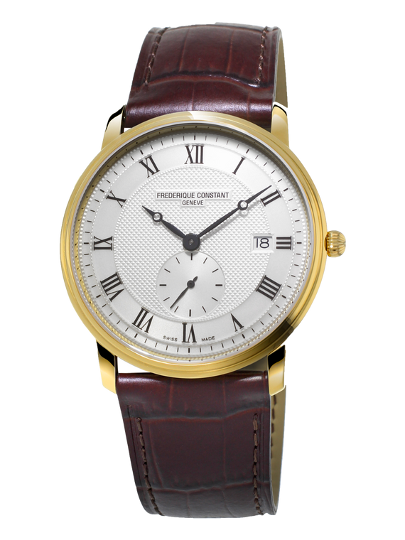 Frederique Constant FC-245M5S5 Slimline Ladies Small Seconds Yellow Gold Silver Dial
