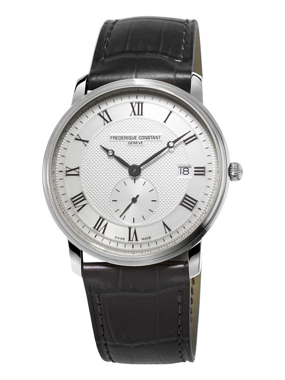 Frederique Constant FC-245M5S6 Slimline Gents Small Seconds Stainless Steel Silver Dial
