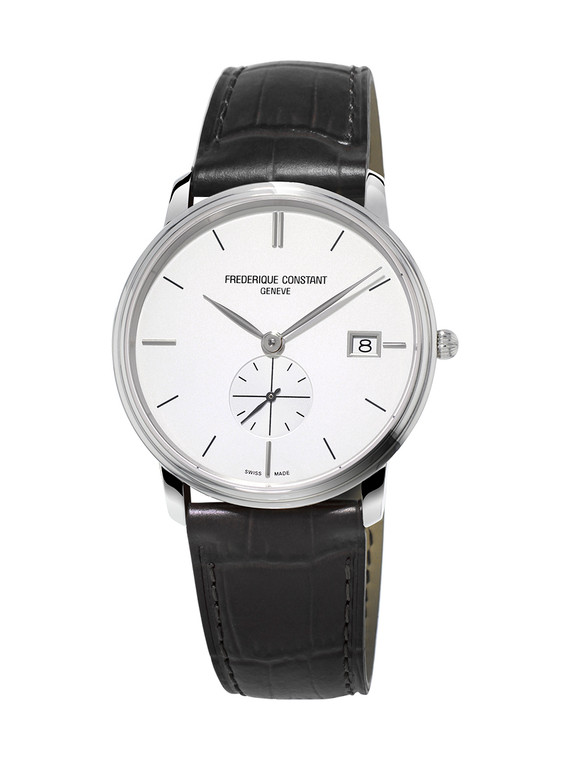 Frederique Constant FC-245S4S6 Slimline Gents Small Seconds Stainless Steel Silver Dial