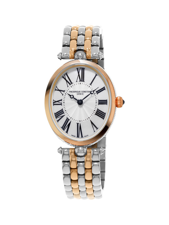 Frederique Constant FC-200MPW2V2B Classics Art Deco Oval Mother of Pearl Rose Gold