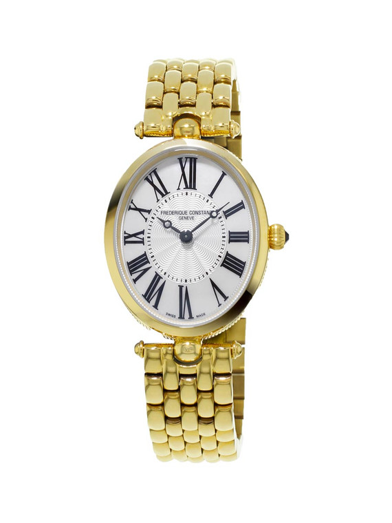 Frederique Constant FC-200MPW2V5B Classics Art Deco Oval Mother of Pearl Yellow Gold
