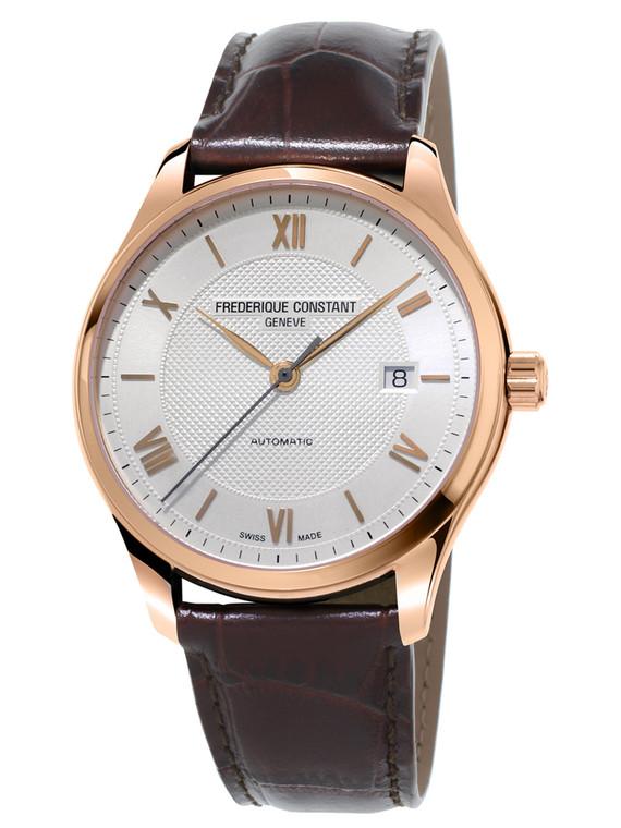 Frederique Constant FC-303MV5B4 Classics Index Automatic Rose Gold Silver Dial