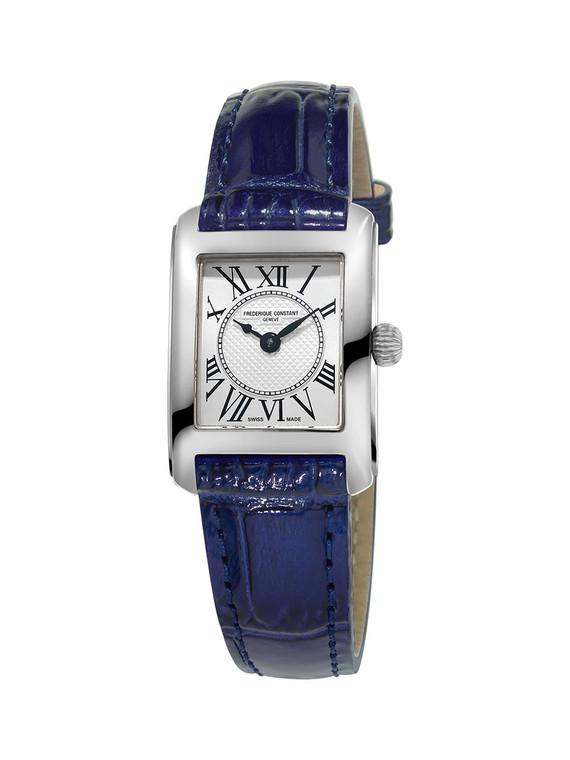 Frederique Constant FC-200MC16 Classics Carree Ladies Stainless Steel Blue Strap