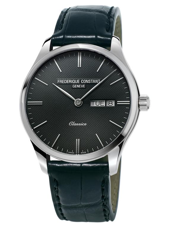 Frederique Constant FC-225ST5B6 Classics Quartz Stainless Steel Black Dial