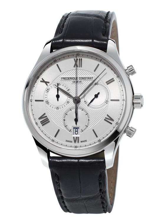 Frederique Constant FC-292MS5B6 Classics Quartz Chronograph Stainless Steel Silver Dial