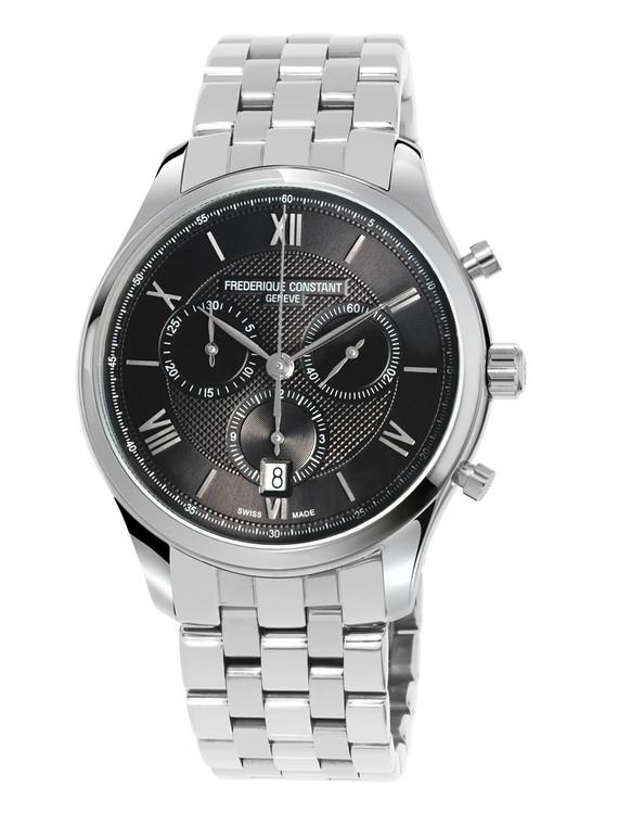 Frederique Constant FC-292MG5B6B Classics Quartz Chronograph Stainless Steel Metal Bracelet Black Dial