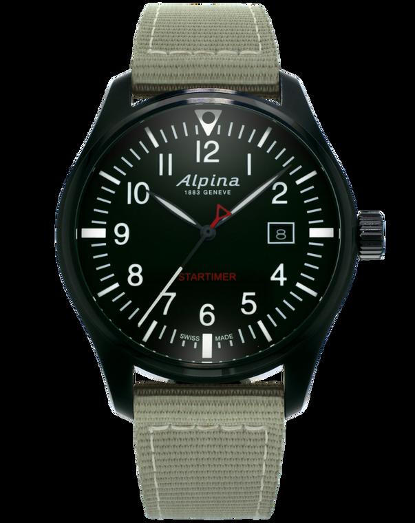 Alpina AL-240B4FBS6 Startimer Pilot Quartz Black Dial