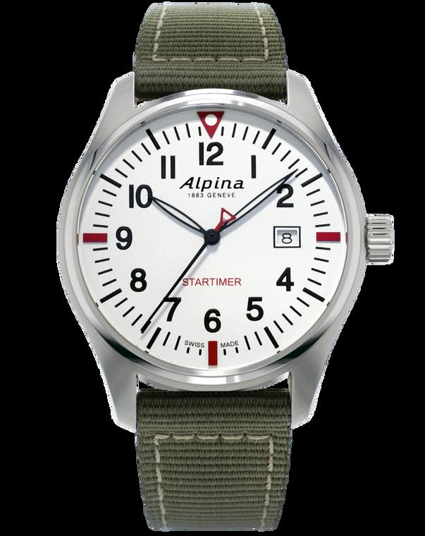 Alpina AL-240S4S6 Startimer Pilot Quartz White Dial