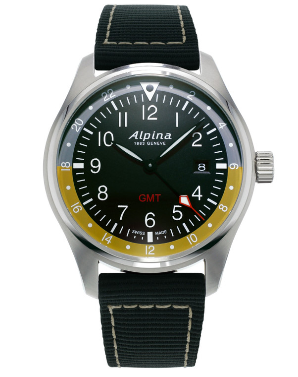 Alpina AL-247BBG4S6 Startimer Pilot Quartz GMT Black Dial