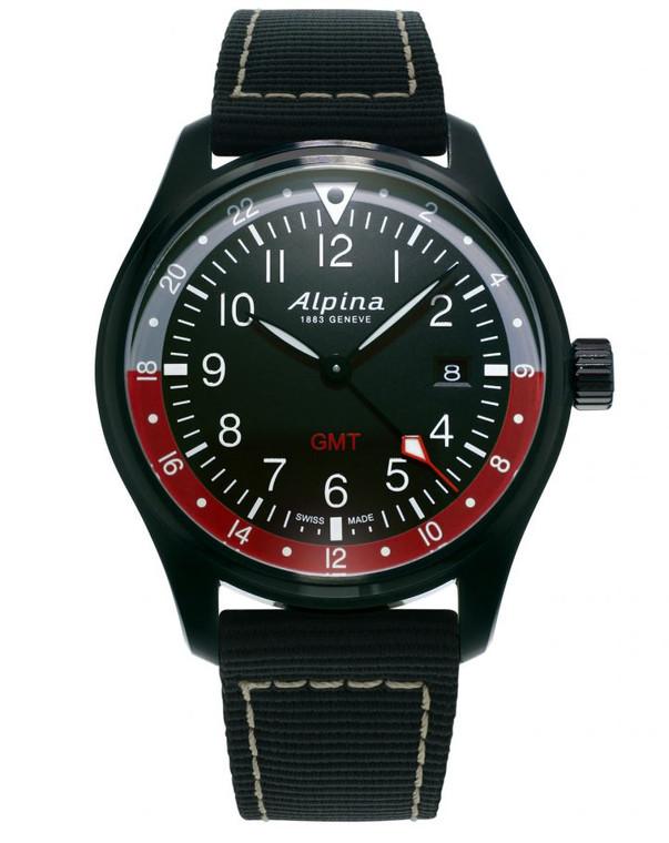 Alpina AL-247BR4FBS6 Startimer Pilot Quartz GMT Black Dial